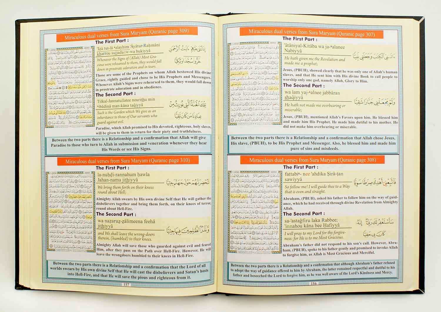 Miraculus Dual Verses in the Quranic Pages in English